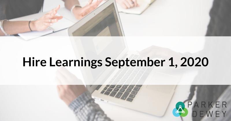 Hire Learnings September 1