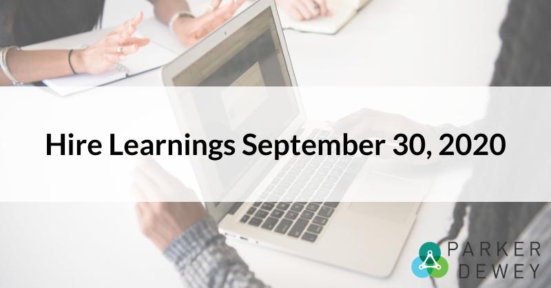 Hire Learnings September 30