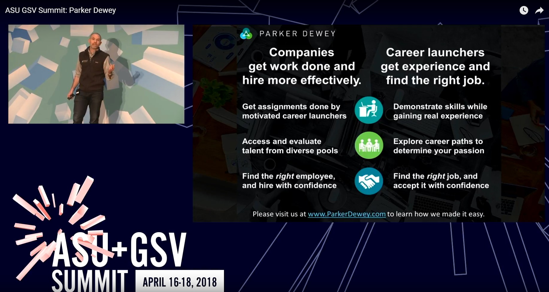 Parker Dewey Overview at AUS GSV 2018