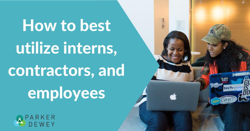 Comparing interns, contractors, and employees for small business