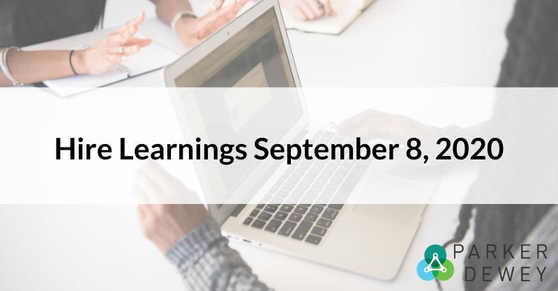 Hire Learnings September 8