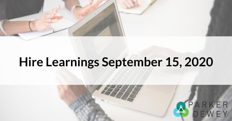 Hire Learnings September 15