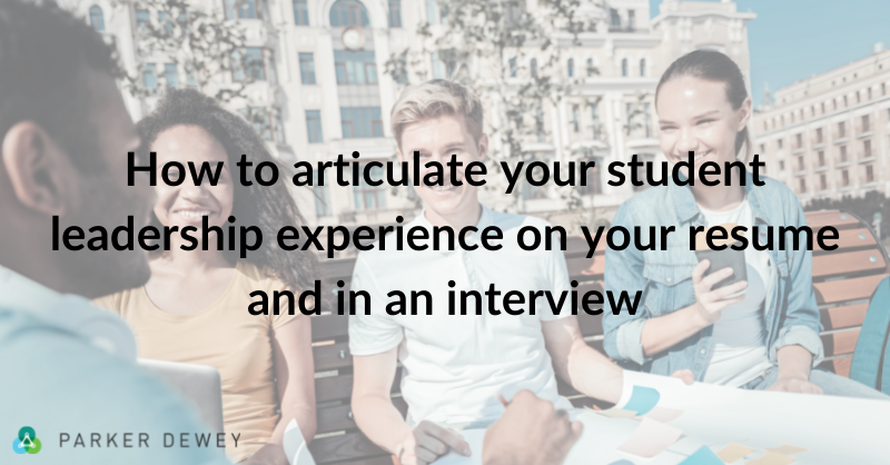 Translating Your Leadership Experience to Employers thumbnail image